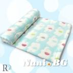 Бебешки одеяла - аква на слончета