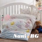 Бебешко спално бельо - Слонче Син