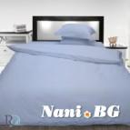 Спално бельо памучен сатен - синьо