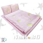 Бебешко спално бельо - Слонче в розово