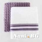 Комплект вафлени кърпи Лайн / Скуеър 2 бр. ЛИЛАВ