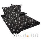 Спално бельо памучен сатен - Инфинити черно