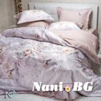Луксозен спален комплект с жакард и бродерия - Фиоре крем