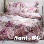 Луксозен спален комплект с жакард - Фиоре лила