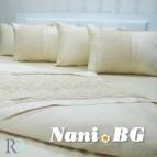 Луксозен спален комплект с дантела Ахинора бежово
