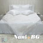 Луксозен спален комплект с дантела Афродита бяло