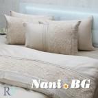 Луксозен спален комплект с дантела Ахинора капучино