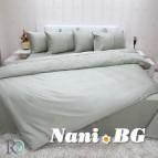Луксозен спален комплект с дантела Ахинора пастелно зелено