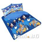 Единичен спален комплект Риби