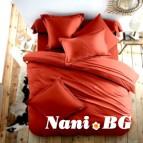 Спално бельо Ранфорс - керемидено Червено
