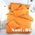 Спално бельо Ранфорс - Оранжево