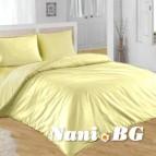 Спално бельо Ранфорс - светло Жълто