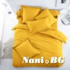 Спално бельо Ранфорс - ярко Жълто