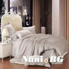 Спално бельо памучен сатен - Бежово