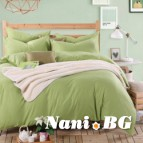 Спално бельо памучен сатен - нежно Зелено