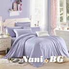 Спално бельо памучен сатен - светло Лилаво