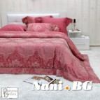 Луксозен спален комплект с жакард и бродерия - Ксения корал