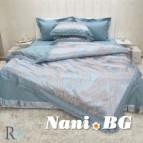 Луксозен спален комплект с дантела Афродита тюркоаз