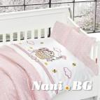 3D Бебешко спално бельо-Бамбук - Kity Pembe