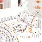Бебешко спално бельо - Щъркел-оранж