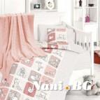 Бебешко спално бельо-Бамбук - Luci Pudra
