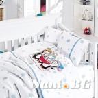 Бебешко спално бельо-Бамбук - Pеnguins Blue