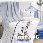 Бебешко спално бельо с одеяло бамбук - SAILORS