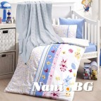 Бебешко спално бельо с одеяло бамбук - SWEET TOYS MAVI