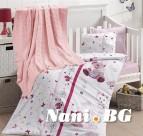 Бебешко спално бельо с одеяло бамбук - Cute Baby