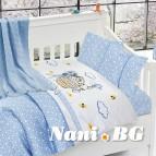 Бебешко спално бельо с одеяло бамбук - Кити блу
