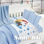 Бебешко спално бельо с одеяло бамбук - Слипър Блу