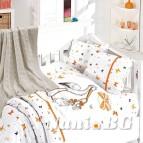 Бебешко спално бельо с одеяло бамбук - Щъркел Ориндж