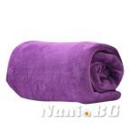 Одеяло микрофибър - лилав