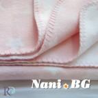 БЕБЕШКО памучно одеяло - Розово на звездички