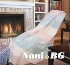Одеяло памук - Пачуърк праскова
