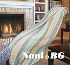 Одеяло памук - Скоч мента и бежово