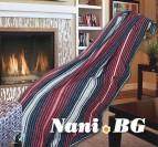Одеяло памук - Скоч червено и тъмно синьо
