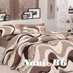 Спално бельо WAVE KAHVE