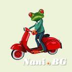 Декоративни възглавници - жаба на мотор