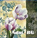 Декоративни възглавници - цветя