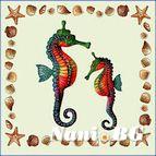 Декоративни възглавници - морски кончета