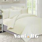 Едноцветно спално бельо Екрю
