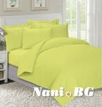 Едноцветно спално бельо Жълто