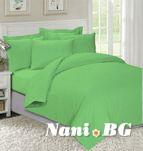 Едноцветно спално бельо Зелено