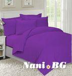 Спално бельо лилаво