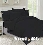 Едноцветно спално бельо Черно