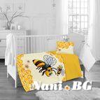 Бебешко спално бельо - пчела