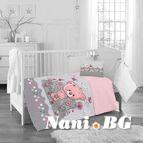 Бебешко спално бельо - розови цветя