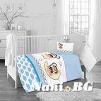 Бебешко спално бельо - маймунка