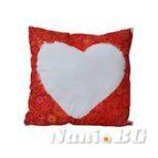 Декоративни възглавници двустранен печат - Сърце